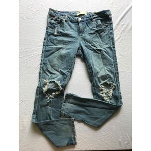 Garage Ripped Skinny Jeans